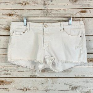 Indigo Rein White Cutoffs - Jean Shorts